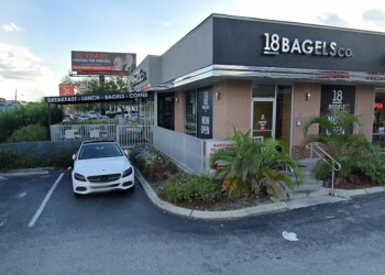 Tampa bagel shop 18 Bagels Co.