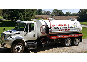 Des Moines septic tank service A-1 Complete Septic Tank Services
