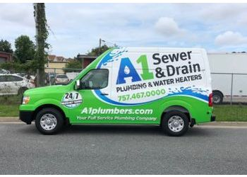 Virginia Beach plumber A-1 Sewer & Drain