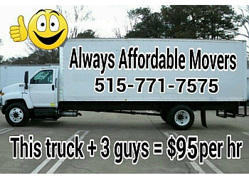 Des Moines moving company AA Always Affordable Movers