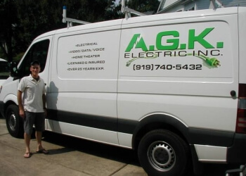 Cary electrician AGK Electric, Inc.