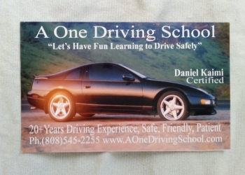 Honolulu driving school A One Driving School