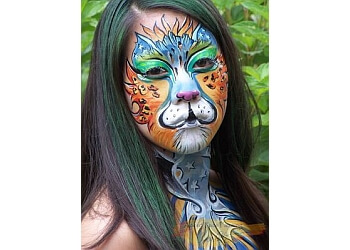 Aurora face painting About Face Painting LLC