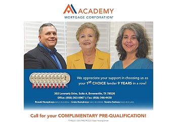 Brownsville mortgage company Academy Mortgage Corporation