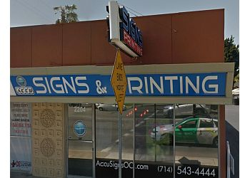 Santa Ana sign company Accu Signs & Digital Printing