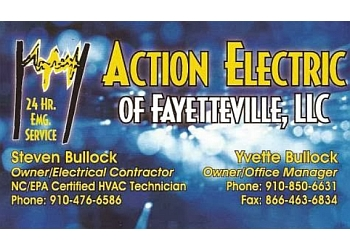 Fayetteville electrician Action Electric of Fayetteville, LLC