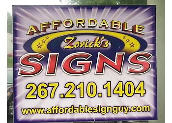 Philadelphia sign company Affordable Zorick's Signs
