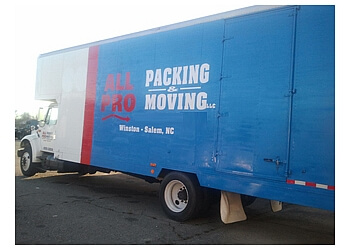 Winston Salem moving company All Pro Packing & Moving