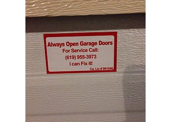 Always Open Garage Doors
