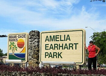 Hialeah hiking trail Amelia Earhart Park Trail