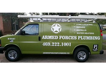 Garland plumber Armed Forces Plumbing
