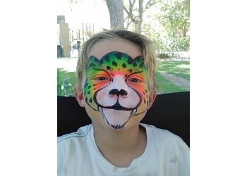 Corona face painting Art by Teressa King