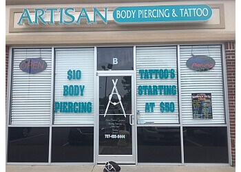 Norfolk tattoo shop Artisan Body Piercing and Tattoo