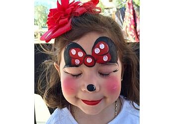 Chula Vista face painting BLUEtiful the Clown