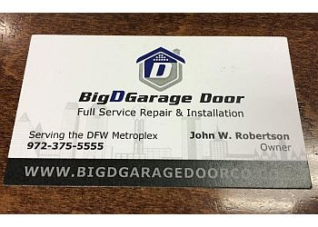 Dallas garage door repair Big D Garage Door