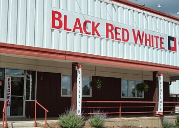 Madison furniture store Black Red White