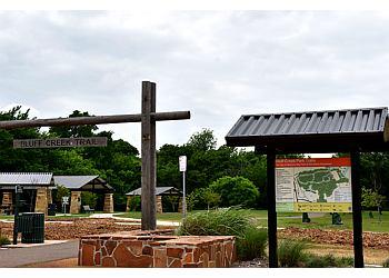 Oklahoma City hiking trail Bluff Creek Park Trail