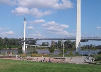 Omaha landmark Bob Kerrey Pedestrian Bridge