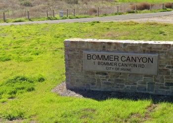 Irvine hiking trail Bommer Canyon Trail