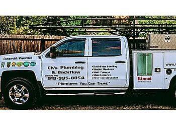 Raleigh plumber CK's Plumbing & Backflow, LLC.