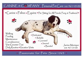 Stockton dog walker Canine & Company