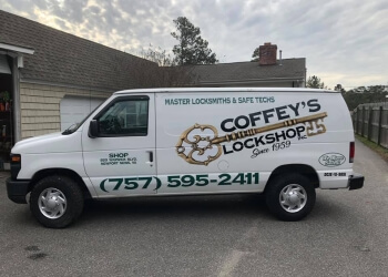 Newport News locksmith Coffey's Lock Shop Inc.