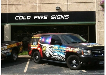 San Antonio sign company Cold Fire Signs