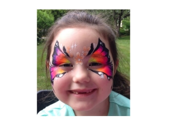 Boston face painting Color Me Funky by Etsko