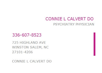 Winston Salem psychiatrist Connie L. Calvert, DO