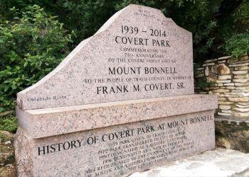 Austin public park Covert Park at Mount Bonnell