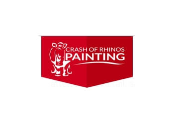 Crash of Rhinos Painting
