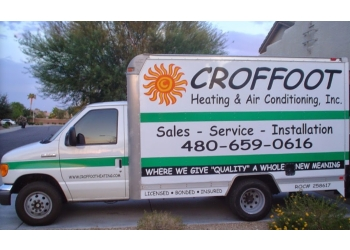 Chandler hvac service Croffoot Heating and Air Conditioning, Inc.