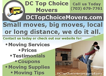 Alexandria moving company DC Top Choice Movers