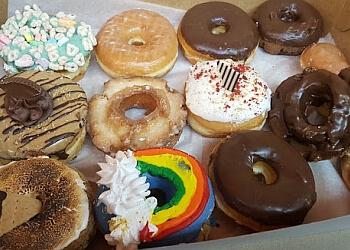 Orange donut shop DK's Donuts