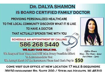 Sterling Heights primary care physician Dalya S. Shamon, MD