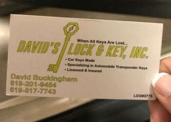 Chula Vista locksmith David's Lock & Key