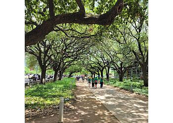 Houston public park Discovery Green