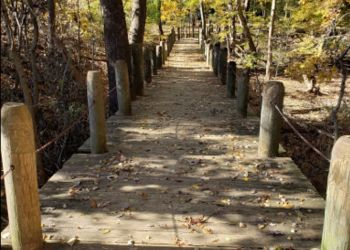 Alexandria hiking trail Dora Kelley Nature Park