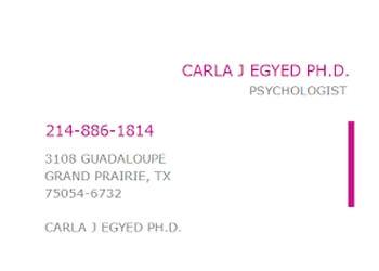 Grand Prairie psychologist Dr. Carla J Egyed, Ph.D