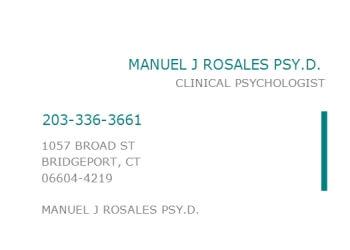 Bridgeport psychologist Dr. Manuel J. Rosales, Psy.D