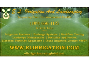 Beaumont landscaping company EL Irrigation and Landscaping