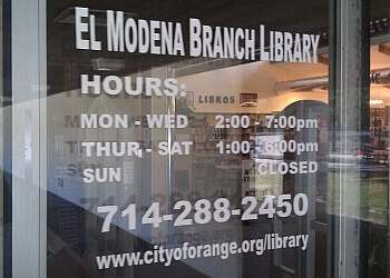 Orange landmark EL MODENA BRANCH LIBRARY