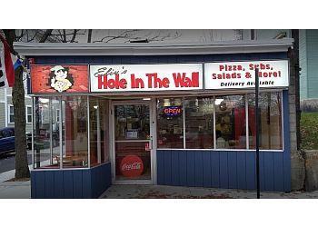 Lowell pizza place Eliu's Hole in the Wall