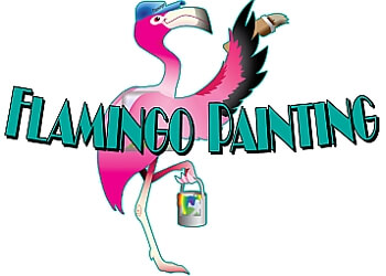 Miami painter FLAMINGO PAINTING