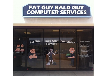 Bald Guy Fat Guy Computer