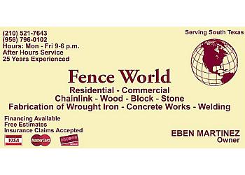 Laredo fencing contractor Fence World