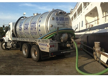 Alexandria septic tank service Five Star Septic & Portables