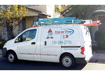 Oakland electrician Five or Free Electrical Solutions, Inc.