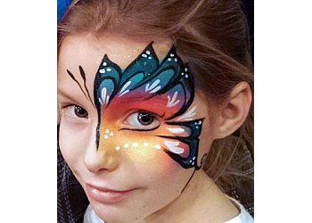 Raleigh face painting Fluttercat Face Painting