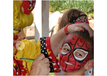 San Diego face painting Frannie The Clown